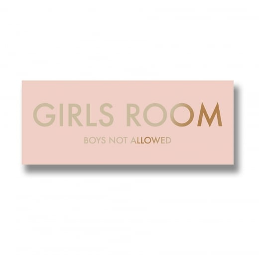 Danish Collection Pink Plaque With Gold Text