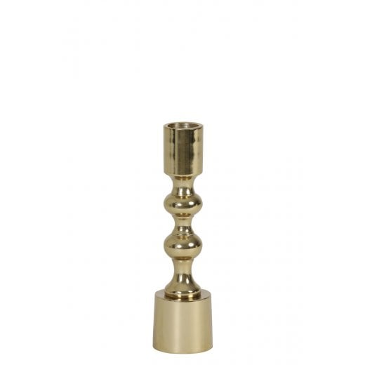 Danish Collection Polished Gold Small Candle Holder
