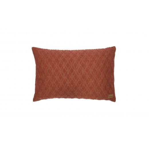 Danish Collection Quilted Diamond Cushion Mohair - Maroon