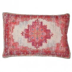 Danish Collection Red Pattern Fabric Cushion