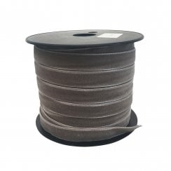Danish Collection Ribbon Velvet 1.6cm wide - Grey 5 mtr