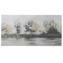 Danish Collection River Scene Oil Painting