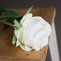 Danish Collection Rose Spray - White H71cm
