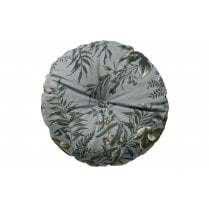 Danish Collection Round Velvet Vogue Cushion - Grey Poppy