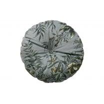 Danish Collection Round Velvet Vogue Cushion - Grey Poppy