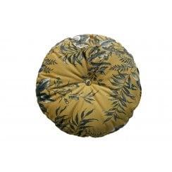 Danish Collection Round Velvet Vogue Cushion - Mustard