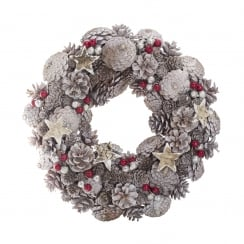 Danish Collection Round Wreath with Pinecones