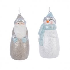 Danish Collection Santa Figure With Hanging String - Soft Brown
