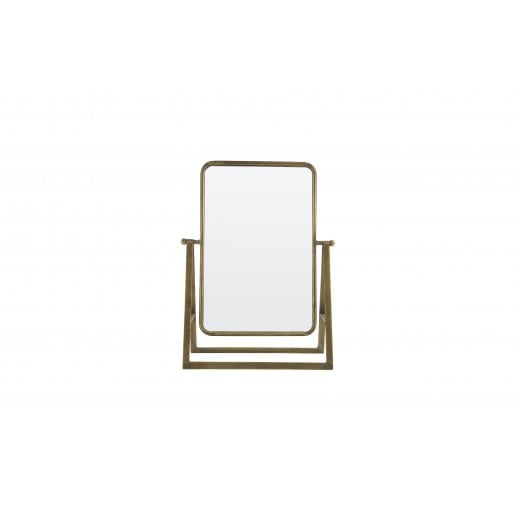Danish Collection Say Cheese Metal Mirror - Antique Brass
