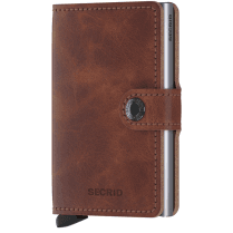 Danish Collection Secrid Vintage Brown Mini Wallet