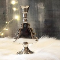 Danish Collection Short Tree Candle Holder - Silver