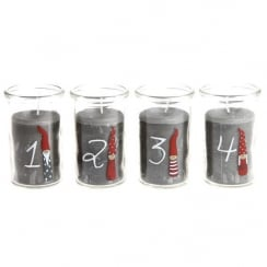 Danish Collection Silly Santa Advent Candle