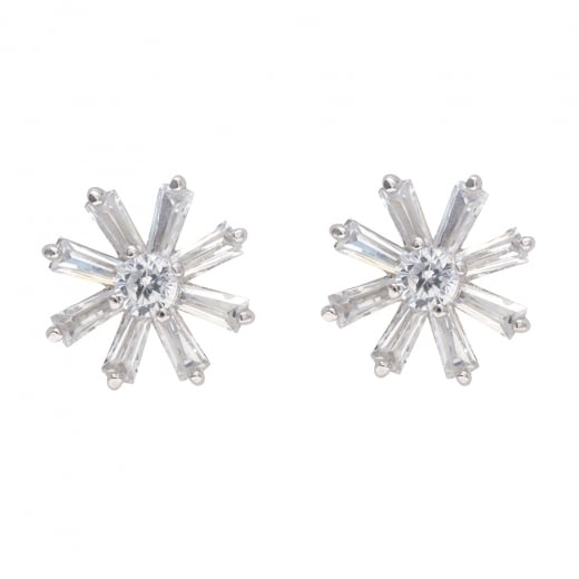 Danish Collection Silver 8 Pointed Earrings