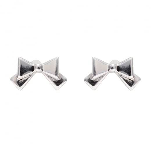 Danish Collection Silver Bow Earrings