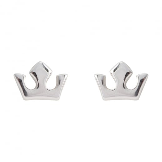Danish Collection Silver Crown Stud Earrings