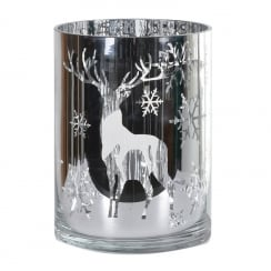 Danish Collection Silver Deer Candleholder