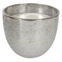 Danish Collection Silver Glitter Candle