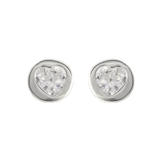 9792ec8a4 Danish Collection Silver Heart Stud Earrings - Danish Collection from Danish  Concept Stores Limited UK