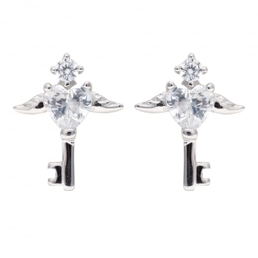 b8eadeb06 Danish Collection Silver Winged Key Stud Earrings - Danish Collection from Danish  Concept Stores Limited UK