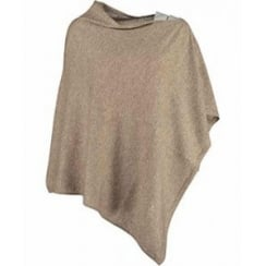 Danish Collection Slash Neck Poncho in 100% pure Cashmere