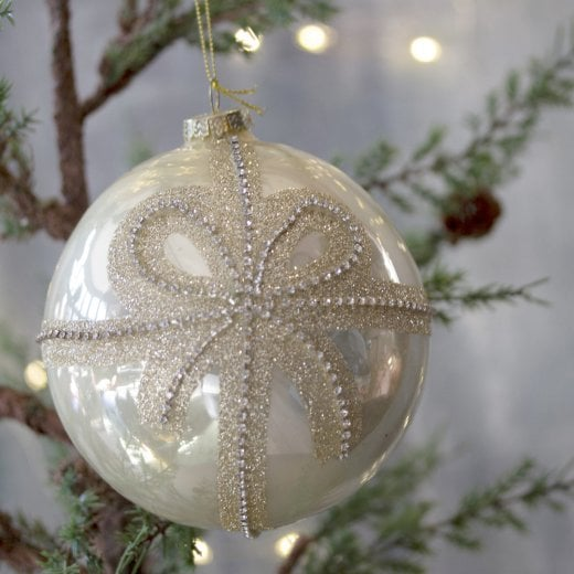 Danish Collection Small Bauble with Diamante Bow