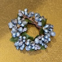 Danish Collection Small Berrybud Candle Ring - Blue