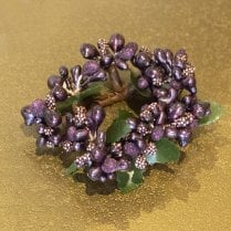 Danish Collection Small Berrybud Candle Ring - Purple