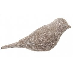 Danish Collection Small Diamond Bird - Silver