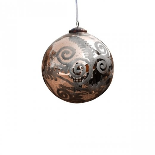 Danish Collection Small Florentine Glass Bauble - Gold