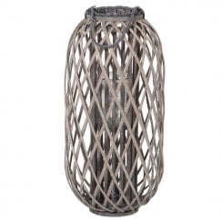 Danish Collection Small Grey Willow Lantern  H:72cm  - PRE ORDER