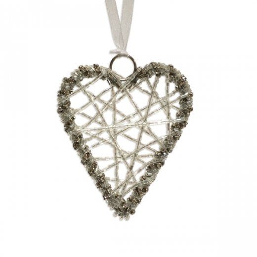 Danish Collection Small Hanging Wire Heart - Clear