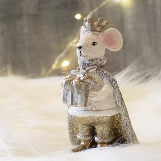 Danish Collection Small King Mouse - White
