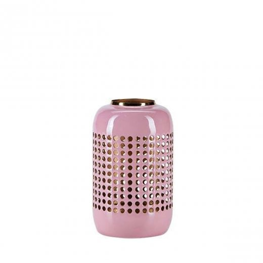 Danish Collection Small Metal Hurricane - Pink