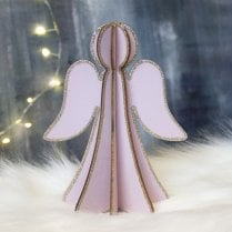 Danish Collection Small Plywood Angel - Pink