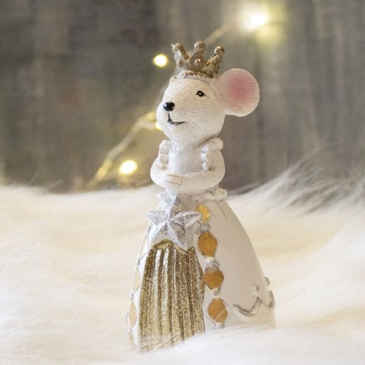 Danish Collection Small Queen Mouse - White