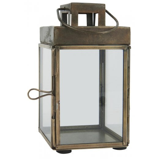 Danish Collection Small Square Lantern - Brass