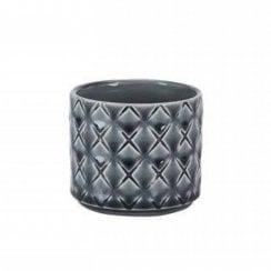 Danish Collection Small Stoneware Flowerpot - Grey