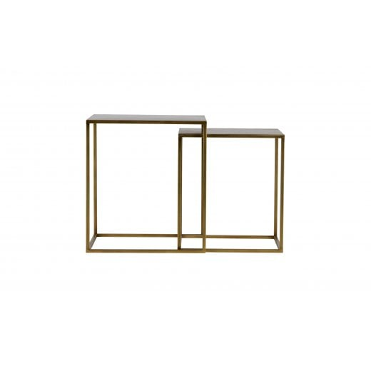 Danish Collection Small Ziva Coffee Table - Antique Brass