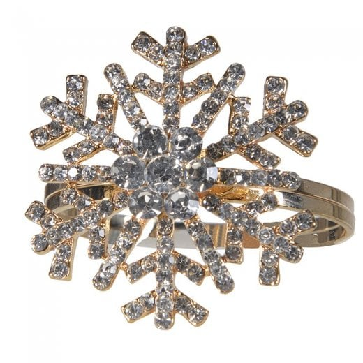 Danish Collection Snowflake Napkin Ring - Gold/Silver