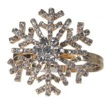 Danish Collection Snowflake Napkin Rings