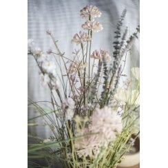 Danish Collection Stalk with white/beige Flowers - L50cm