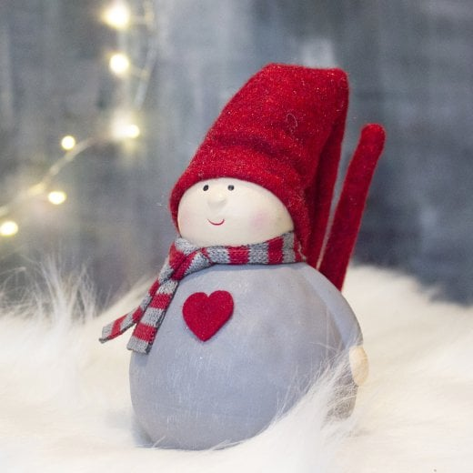Danish Collection Tahera Heart Gnome - Red