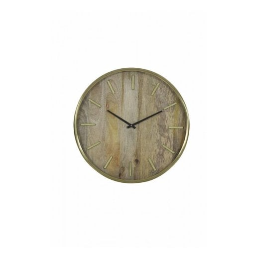 Danish Collection TIMARU Clock - Wood/Bronze