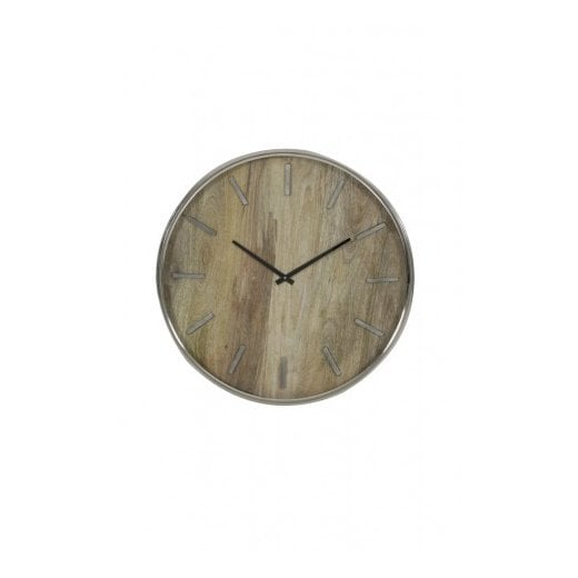 Danish Collection TIMARU Clock - Wood/Nickel