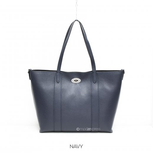Danish Collection Tote Bag - Genuine Leather - Navy Blue