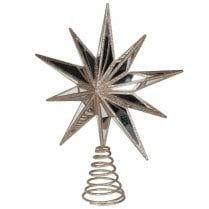 Danish Collection Tree Topper Star - Antique Gold H30cm