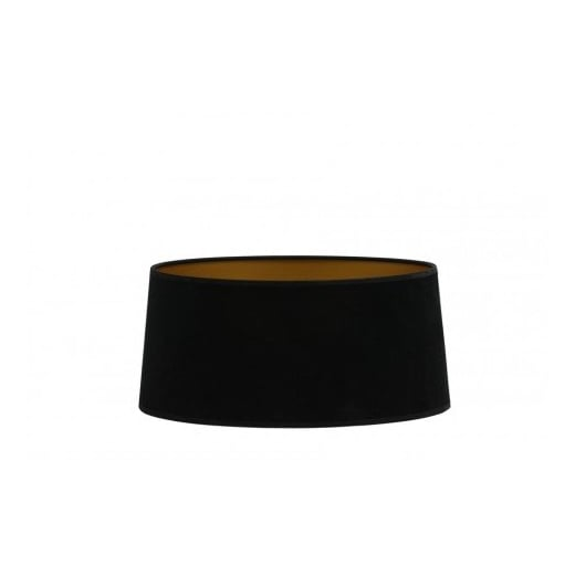 Danish Collection Velour Black and Gold Lamp Shade