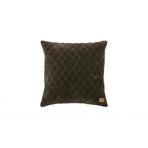 Danish Collection Velvet Cuddle Diamond Cushion - Dark Taupe