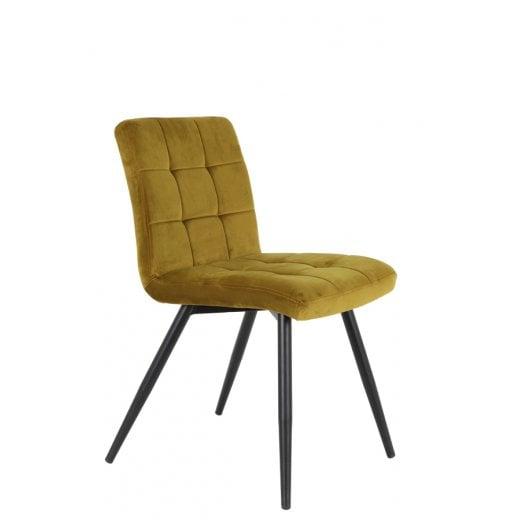 Danish Collection Velvet Dining Chair - Ochre