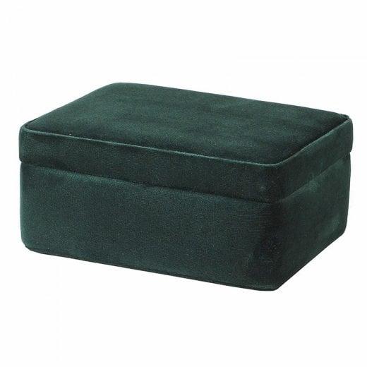 Danish Collection Velvet Jewel Box - Green
